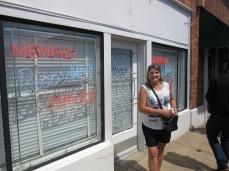 Barbara at the front of Sun Studio's